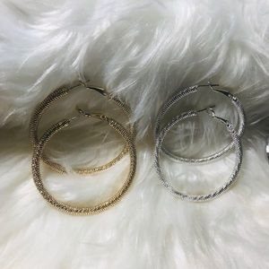 ❤️Silver & Gold hoop earrings ❤️